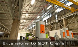 Extensions to 20T Overhead Crane
